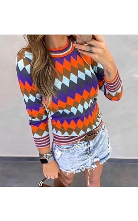 blusa escocesa