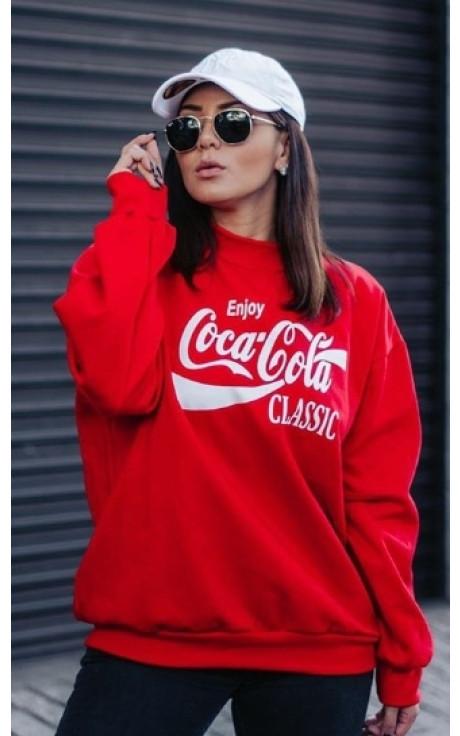blusa de moletom coca cola