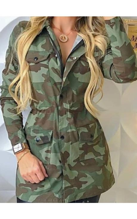 jaqueta parca camuflada