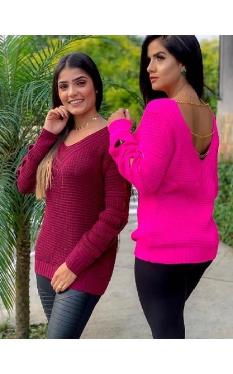 blusa tricot corrente