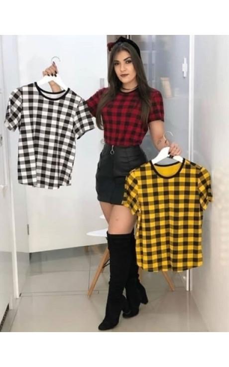 t shirt xadrez