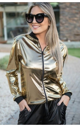 Jaqueta Bomber Dourada